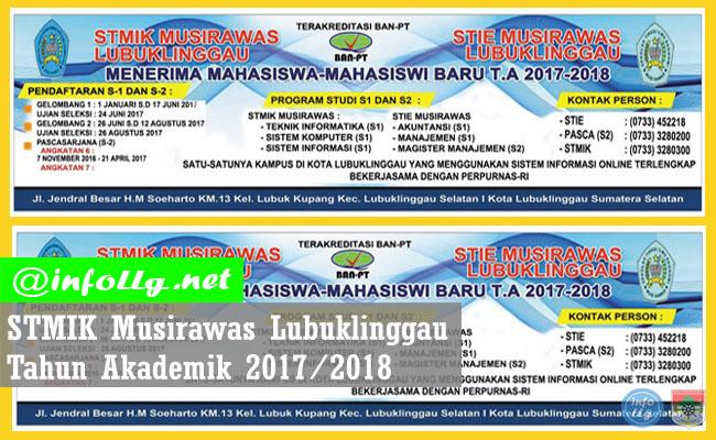 Informasi Penerimaan Mahasiswa Baru STMIK Musirawas Lubuklinggau 2017-2018