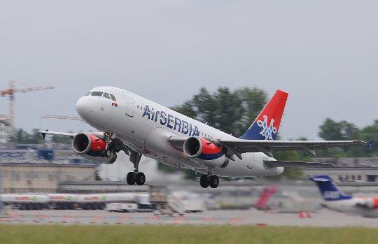 air serbia warszawa-belgrad