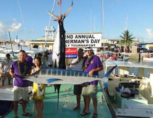Team Wasabi weighs in a marlin and holds the tag-and-release award. Photo: Karen Earnshaw