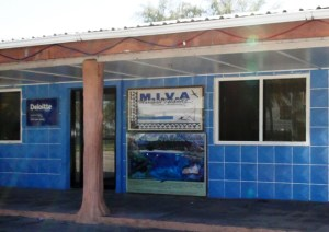 The MIVA office in Small Island.