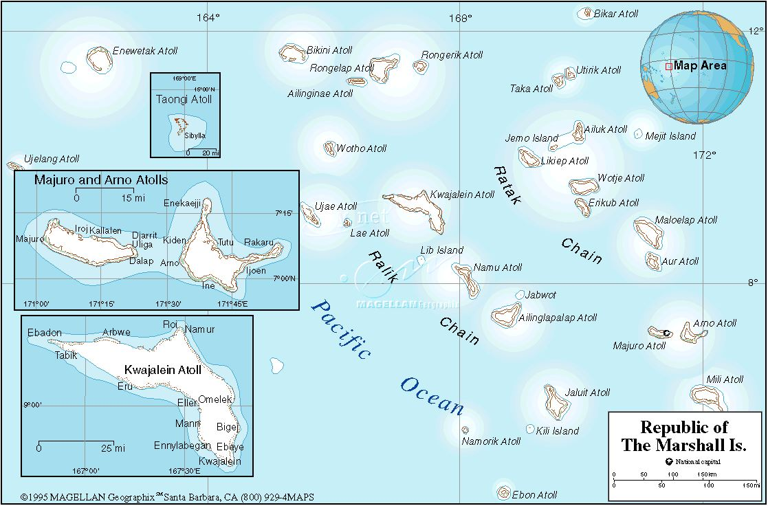 Map Pacific Ocean Marshall Islands