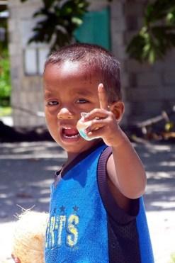 A young boy on Aur Atoll. Photo: David Mancini
