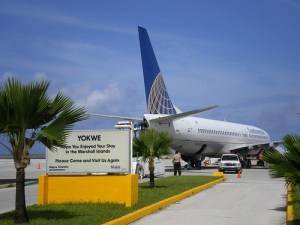 United airlines in Majuro