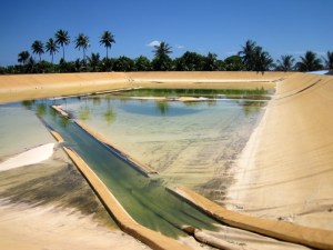 Majuro's water reservoir next to the airport. Photo: Unknown