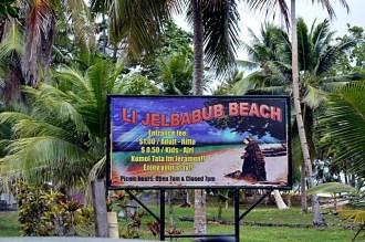 The entrance sign to the Laura Beach park. Photo: Karen Earnshaw