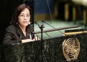 President Hilda Heine at the UN.