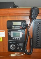 The VHF radio and Xantrex inverter remote and tank gauges.