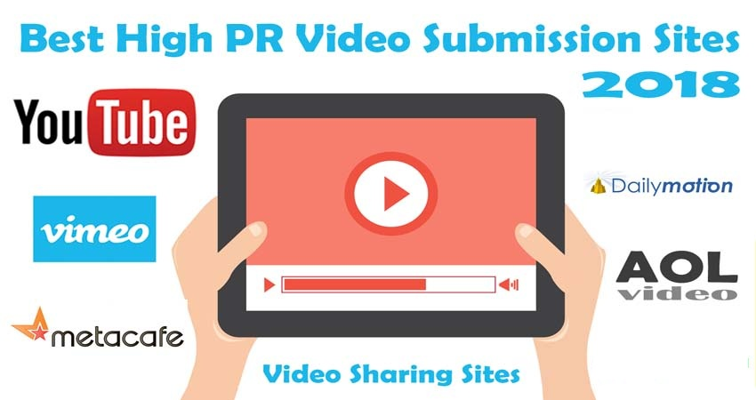 Top 50 Free Video Submission sites List 2018