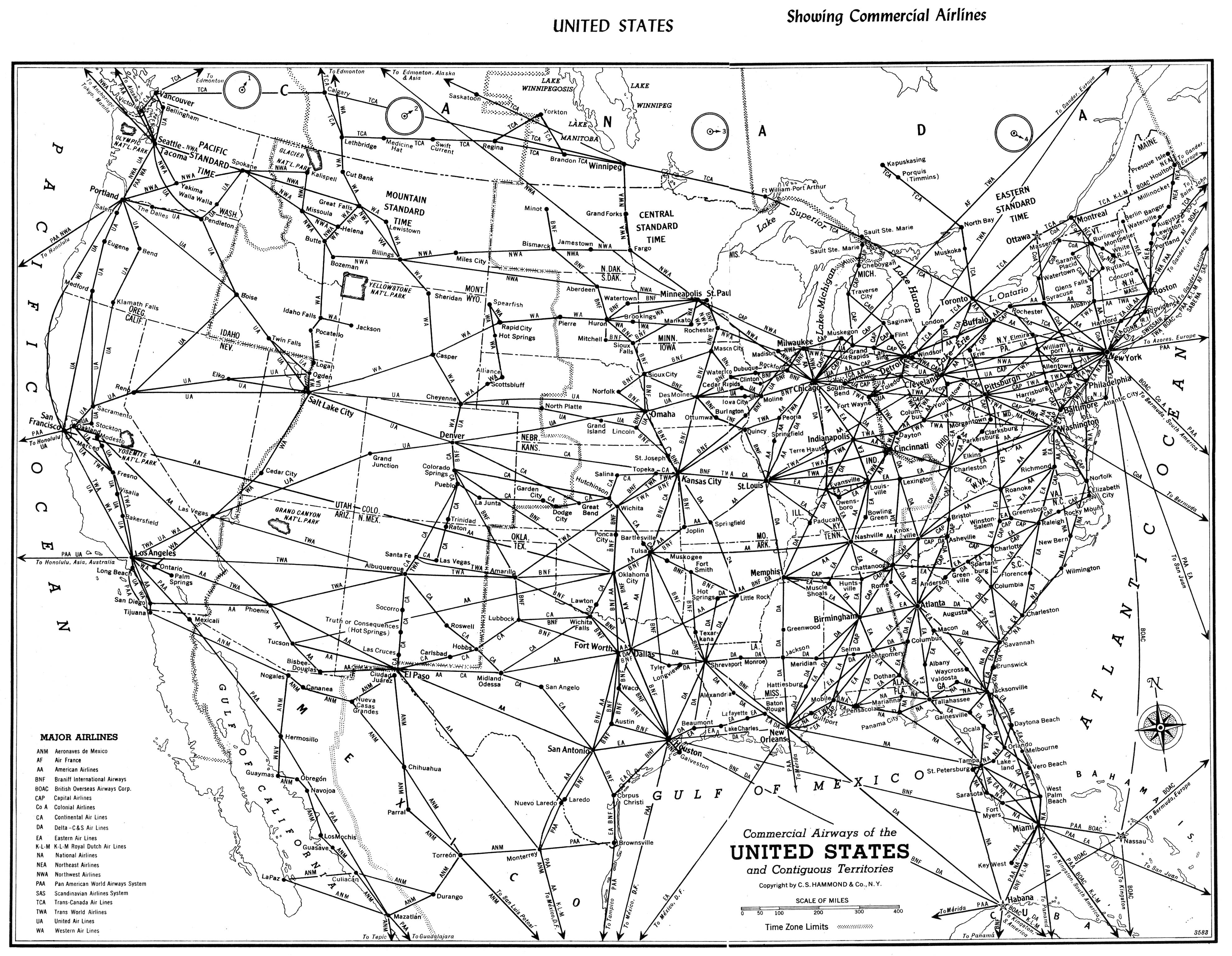 File Map Of Us Airlines