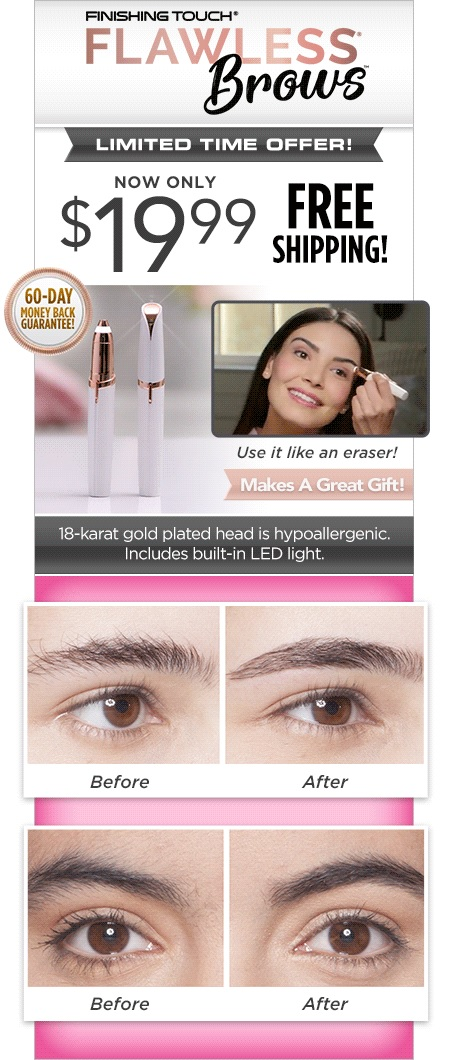 Finishing Touch Flawless Brows TV Offer