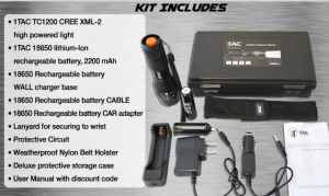 tactical flashlight kit