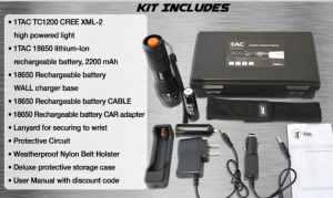 tactical flashlight kit