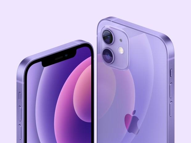 iPhone 12, na cor roxa (Apple/Divulgação)