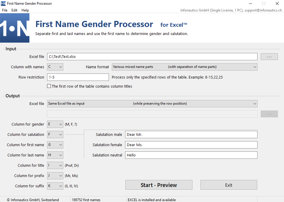 First Name Gender Processor