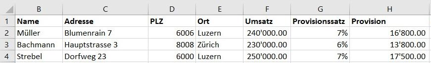 Zahlenformate aus Excel richtig übernehmen für Serienbrief