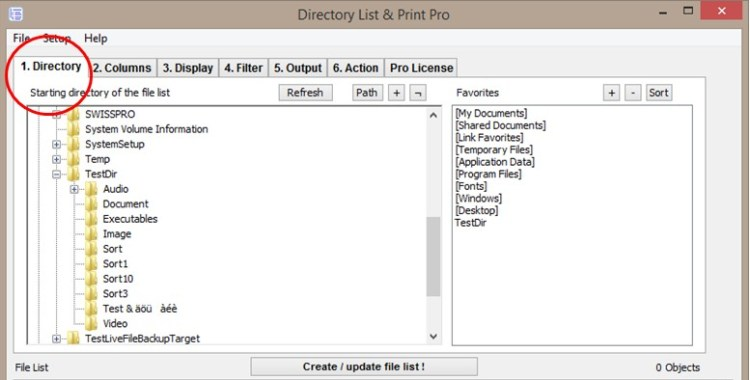 Directory List & Print Pro for Windows