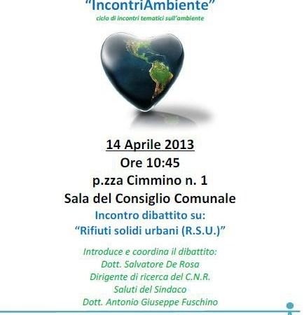 Arzano, i rifiuti solidi urbani. Domenica 14 Aprile incontro-dibattito
