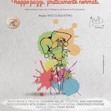 """Grumo Nevano, oratorio Madonna del Buon Consiglio: al via la commedia """"Troppo pazzi,  praticamente normali"""""""