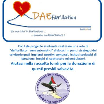 """Napoli,  presentazione del progetto """"Daefibrillation"""". Il C.O.P.C. Falchi del Sud di Napoli dona un defibrillatore alla struttura sportiva 'Stadio Collana'"""