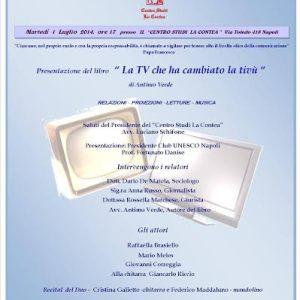 """Napoli, Antimo Verde presenta """"La tv che ha cambiato la tivù"""""""
