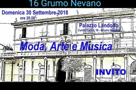 Grumo Nevano, moda, arte e musica. Serata evento presso il suggestivo Palazzo Landolfo