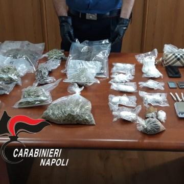 Afragola, due chili e mezzo di droga nascosta nel ripostiglio di casa, arrestato 43enne