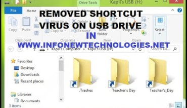Remove Shortcut Virus on USB Drive