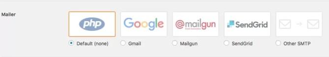 wp mail configuracao