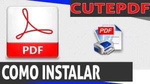Como criar um arquivo PDF ( instalar programa inclusive)