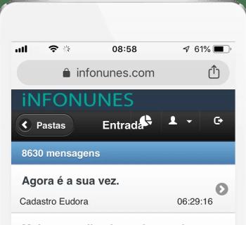 Email sincronizados em todos os dispositivos