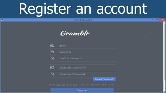 How to create an account on Gramblr