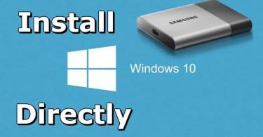 Install Windows 10 from External Hard Drive
