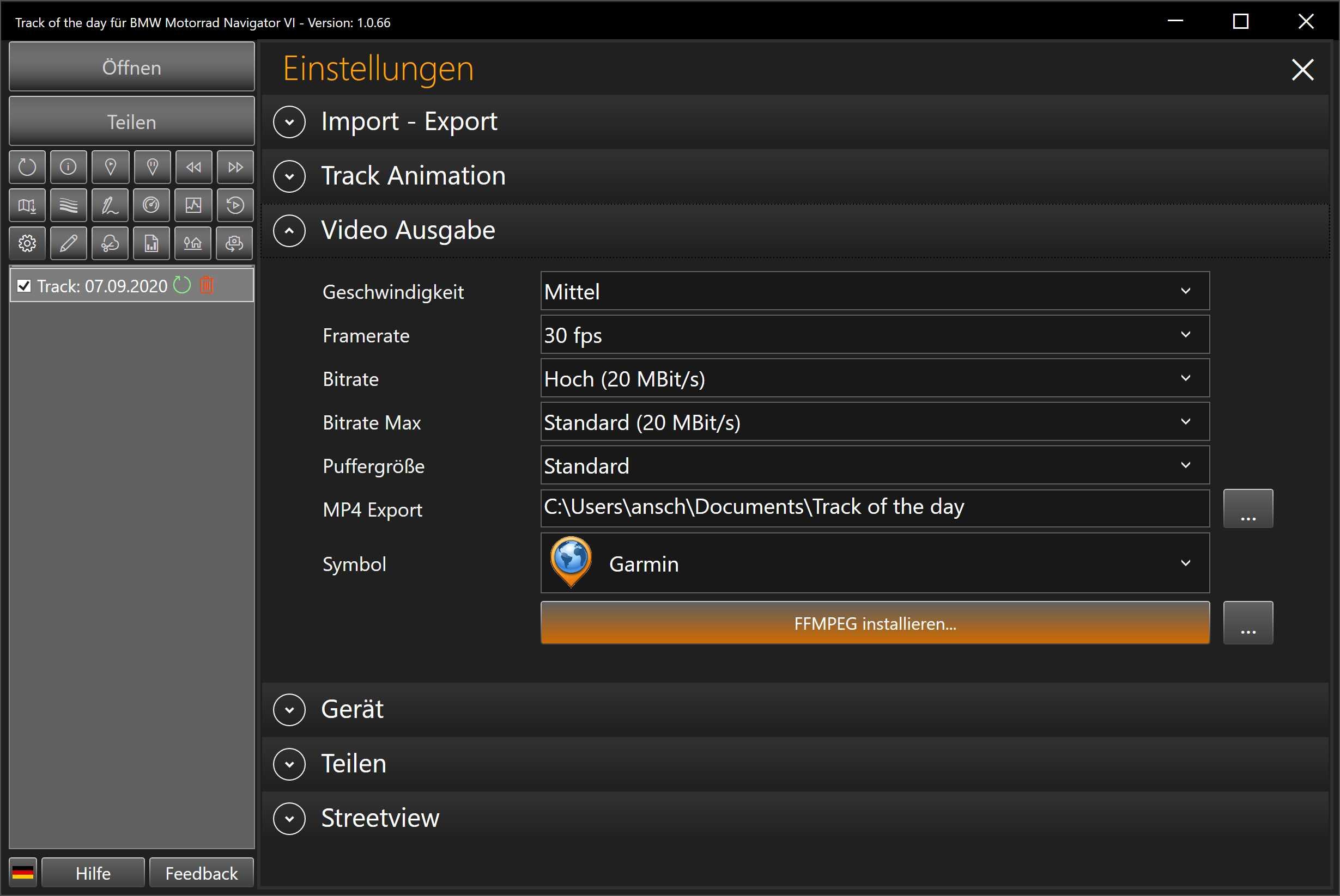 FFMPEG Installation