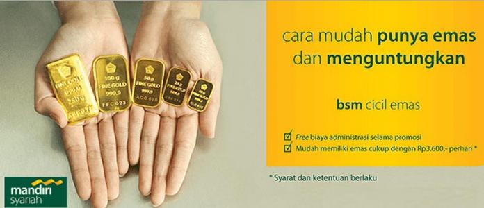 Beli Emas Batangan Di Bank Mandiri Syariah Dengan Cara Kredit