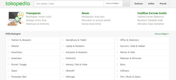 Website Marketplace Tokopedia