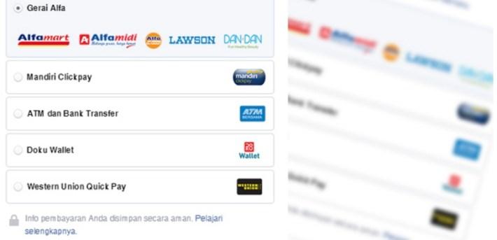 Pembayaran Iklan FB menggunakan ATM Bank Lokal