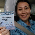 Bayar Taksi Blue Bird Menggunakan Bank Mandiri dan BNI Secara Nontunai