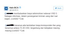 Biaya Transfer dari Luar Negeri di BCA