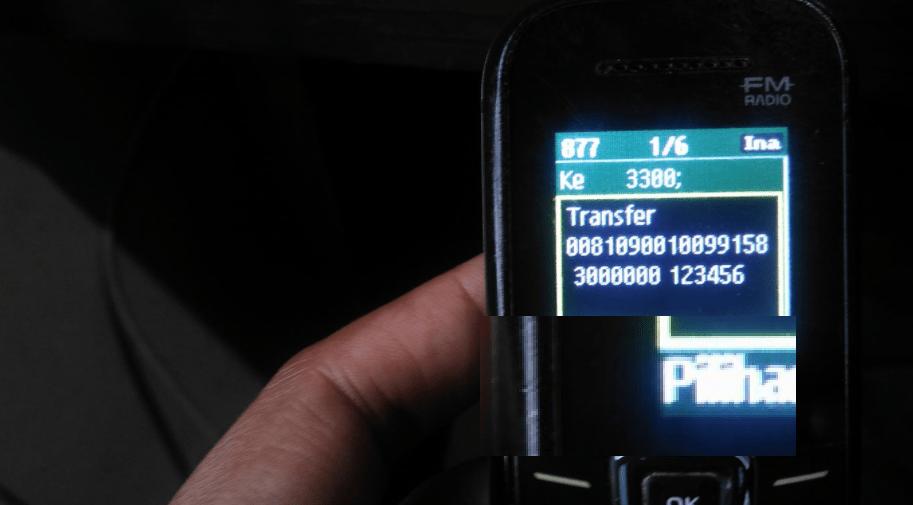 Transfer Antar Bank lewat SMS Banking BRI