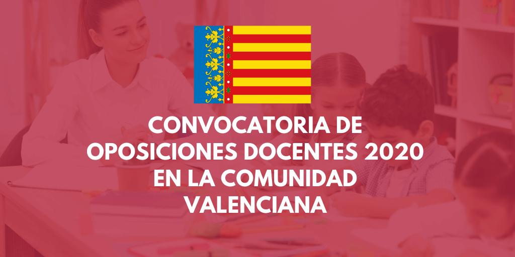 Convocatoria de oposiciones a profesores de Secundaria en la Comunidad Valenciana 2020 - Infoposiciones
