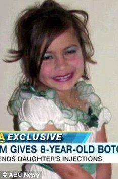 O mama ii face fiicei sale de 8 ani injectii cu BOTOX si o epileaza pe picioare!(Video)