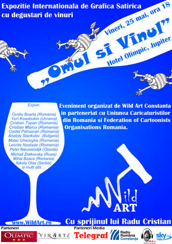 "Expozitia Internationala de Grafica Satirica ""Omul si Vinul"""