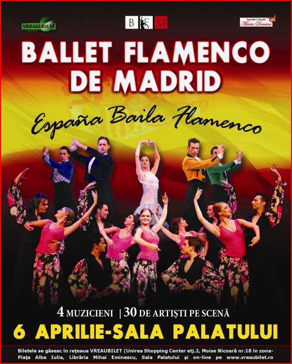 """Ballet Flamenco de Madrid revine in Romania cu  spectacolul """"Espana Baila Flamenco"""""""