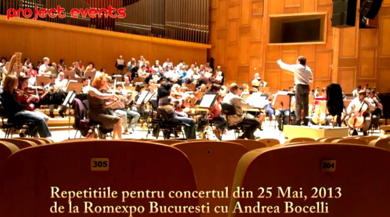 Au inceput repetitiile pentru concertul de la Bucuresti al lui Andrea Bocelli!