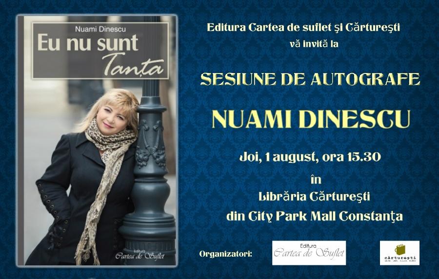 Sesiune de autografe Nuami Dinescu la Libraria Carturesti Constanta