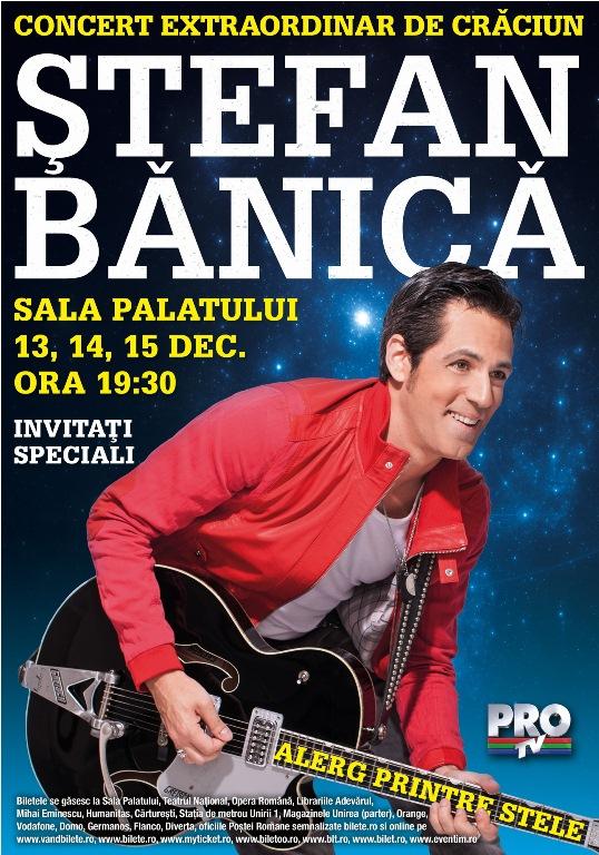 Stefan Banica - 12 ani de traditie: s-au pus in vanzare biletele pentru concertul de Craciun