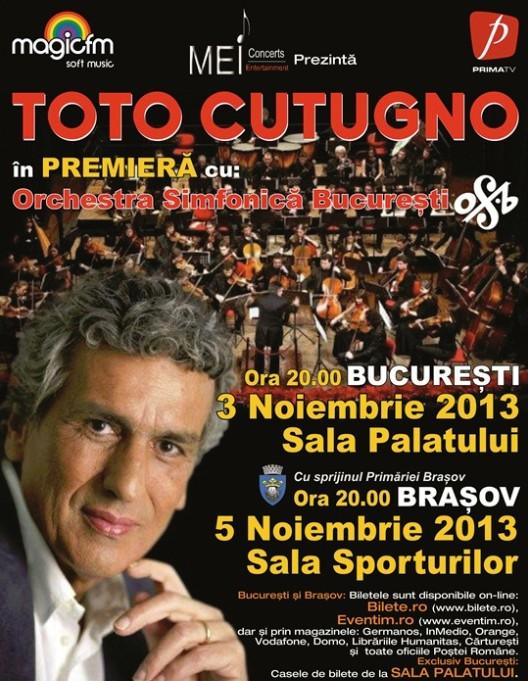 Dupa 20 de ani, Toto Cutugno revine la Brasov in data de 5 noiembrie, la Sala Sporturilor!