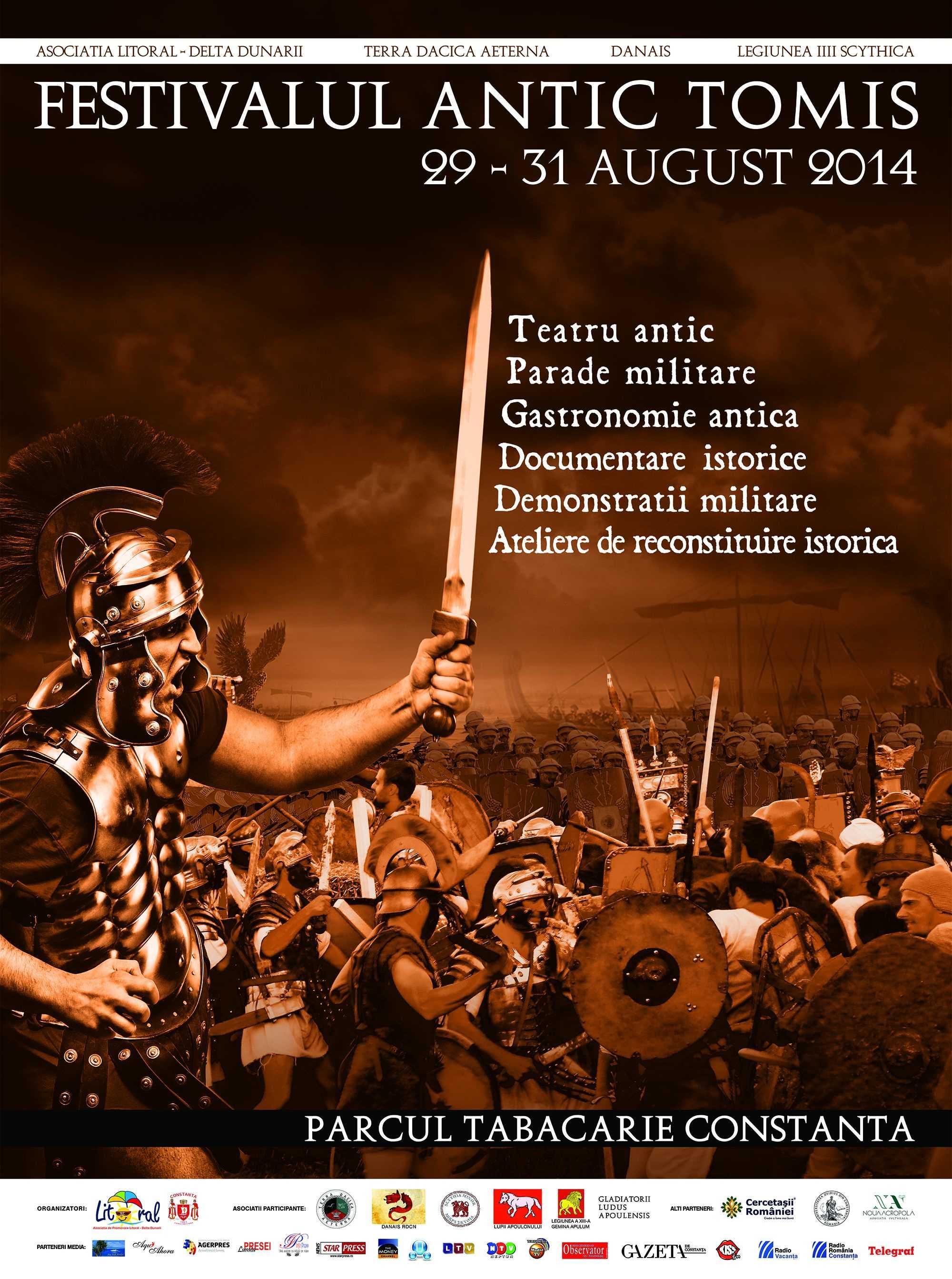 Au mai ramas 7 zile pana la Festivalul Antic Tomis!
