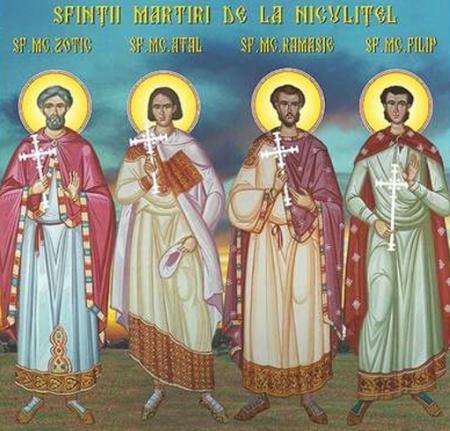 Sărbătoarea Sfinților Mucenici Zotic, Atal, Camasie și Filip de la Niculițel