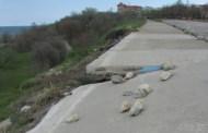 Alunecare de teren in orasul Eforie